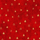 Gustav Klimt TRIANGLES red - ZLATOTISK