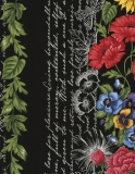 Garden Journal 11″ Floral Stripe