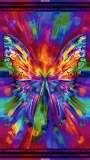 AWAKEN Abstract Butterfly Bright Digitally Printed Panel  24""