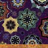 Grand Illusion Tossed Medallions Purple Zlatotisk
