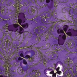 Pansy Butterfly Scroll Purple - metalická