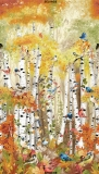 24″ Birds in Birch Trees