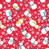 Mulberry Lane Snowman Red