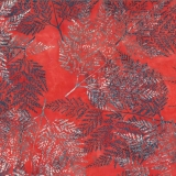 Bali Batik Fern in Singapore Red Gray