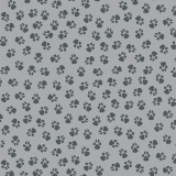 Paw Prints Medium Grey