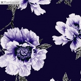 Violet Twilight Floral Navy Purple - perleťová
