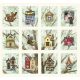Beautiful Birds Housing Boom Birdhouse Panel Cream