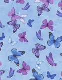 Butterflies on Etched Pansies