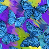 Butterfly Magic Blue Multi