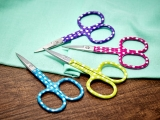 Embroidery Scissors Polka Dot 9,3 cm - tyrkys