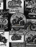 Packed Vintage Motorcycle Signs