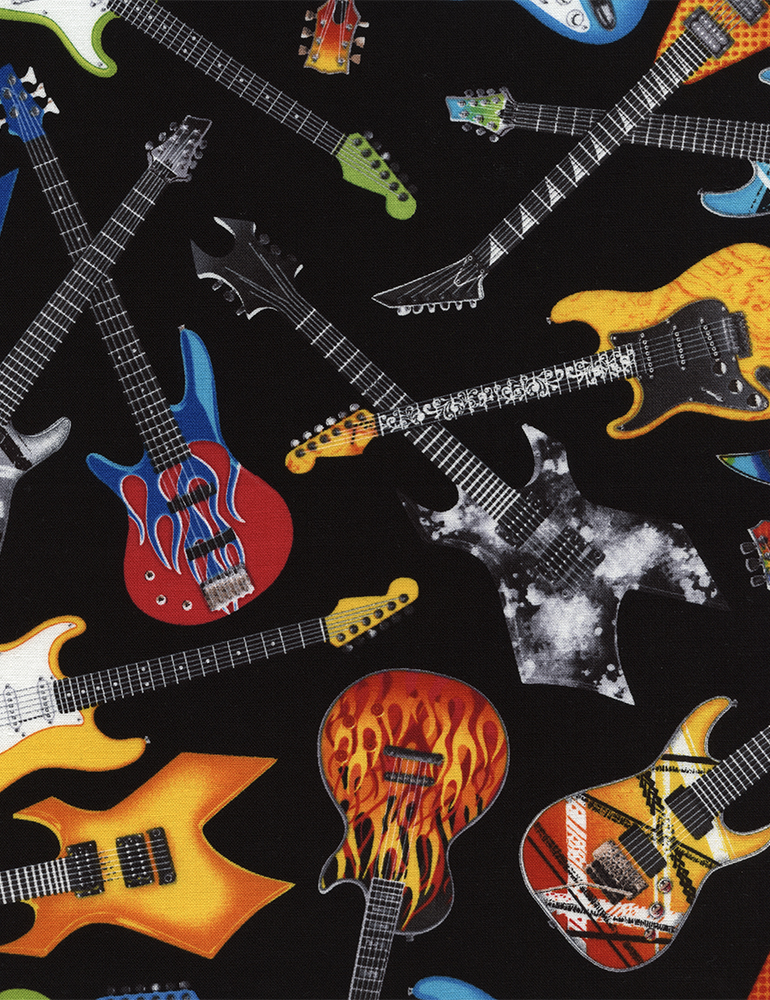 Tossed Electric Guitars