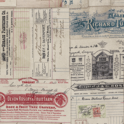 Vintage Receipts - Multi