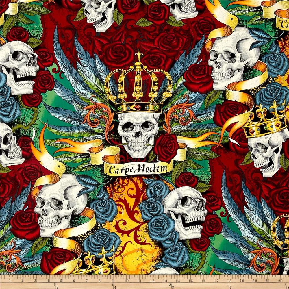 Skullduggery Royal Bright Skulls Roses