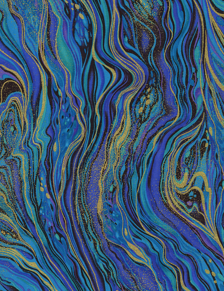 Abstract Marbling Metallic