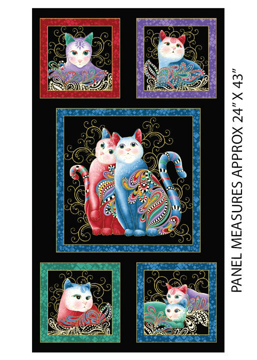 PurrFect Together Panel Black/Multi - metalická