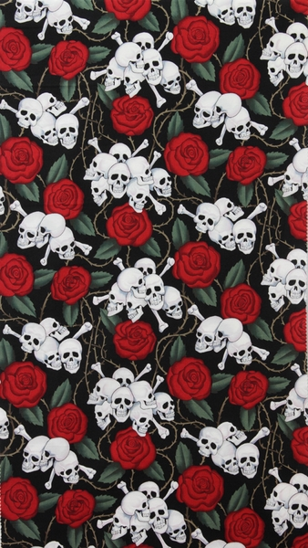 Nicole´s Prints Skulls with Roses