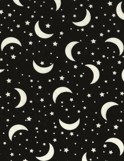 Glow in the Dark Crescent Moon & Stars