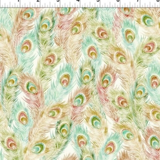Feathers Peach/Teal