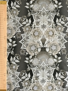 Large Floral Medallion Taupe