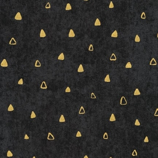 Gustav Klimt TRIANGLES black - ZLATOTISK
