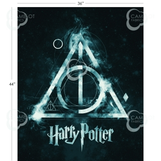 Deathly Hallows Panel in Dark Teal - PANEL 92 cm