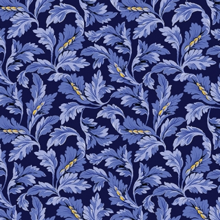 Acanthus Leaf Scroll Navy