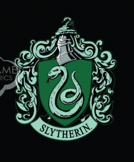 House Crests Panel in Black - erb SLYTHERIN