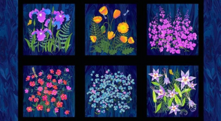 Wildflowers - panel 58 x 110 cm