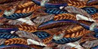Spirit of Flight Feathers Brown