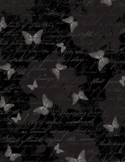 Antique Butterfly Text