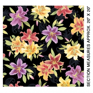 Big Lily Allover Black Multi